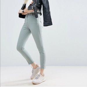 ASOS   Pale Green Skinny Jeans - Size 2